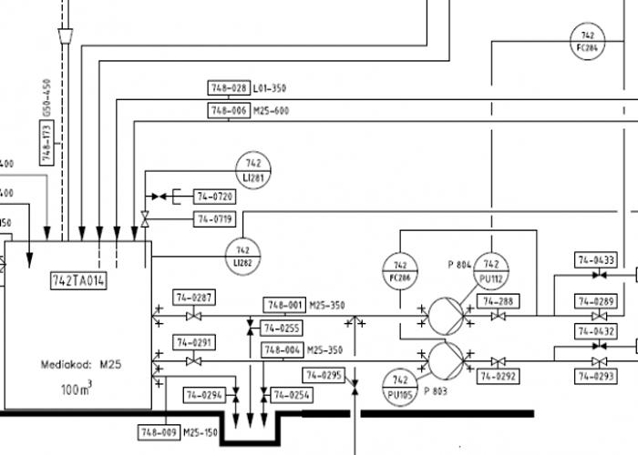 Flödesschema - p&id - CAD